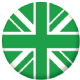 Great Britain Green Flag 58mm Fridge Magnet
